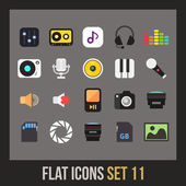 Platte icons set — Stockvector