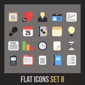 Ensemble d'icônes plat — Vecteur