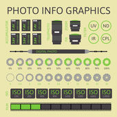 Photo infographics set, part two — Stock Vector