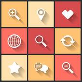 Vector design flat icons — Stock Vector