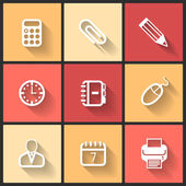 Vector design flat icons — Stock Vector