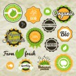 Collection green vector labels — Stock Vector