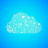 Computer cloud icon — Stock Vector