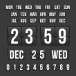 Countdown Timer and Date, Calendar Scoreboard — Stockvektor
