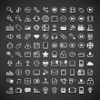 100 flat metallic universal icons — Vetorial Stock #41454929