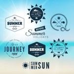 Vintage summer holidays typography design — Stock Vector #41455717