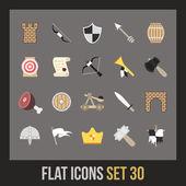 Flat icons set — Stock Vector