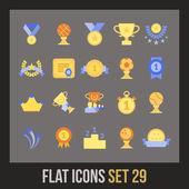 Platte icons set — Stockvector