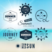 Vintage summer holidays typography design — Stock Vector
