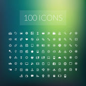 Set of 100 simple universal modern thin line icons — Stock Vector