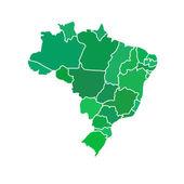 Flat simple Brazil map — Stock Vector