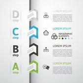 современный бизнес шаг оригами стиль параметры баннер — Cтоковый вектор