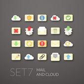 Flat icons set 7 — Stock Vector