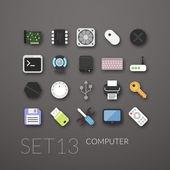 Flat icons set 13 — Wektor stockowy