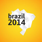 Triangle texture Brazil map — Vector de stock