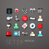 Flat icons set 19 — Stock Vector