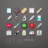 Flat icons set 18 — Stockvector