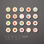 Flat icons set 17 — Stock Vector