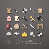 Flat icons set 30 — Stock Vector