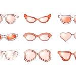 Women fashion isolated sunglasses set — Stock Photo #47319505