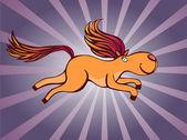 Running horse — Stock Vector