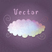 Watercolor illustration of cloud — Stock Vector
