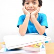 Little boy studying text books — Stock Photo #32369191