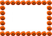 Orange pumpkin Halloween background — Stock Photo