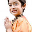 Thai boy traditional costume — Stock Photo #33185737
