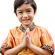 Thai boy traditional costume smile — Stock Photo #33186147