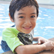 Little boy in swimming pool — Stock Photo