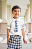 Šťastné student ve škole — Stock fotografie