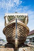 Wooden boat is repairing — Stock Photo