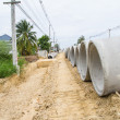 Stock Photo: Concrete drainage pipe