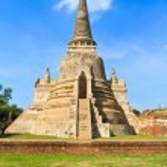 Pagoda at wat phra sri sanphet temple, Ayutthaya province, Thailand — Stock Photo