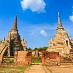 Pagoda at wat phra sri sanphet temple, Ayutthaya, Thailand — Stock Photo