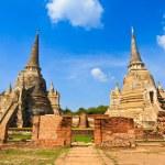 ワット ・ プラ ・ スリ · サンペット寺院、アユタヤ、タイでの塔 — ストック写真