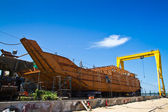 Ship under construction — Stock Photo