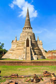Pagoda at wat phra sri sanphet temple, Ayutthaya province, Thailand — Stock Photo