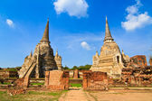 Pagoda at wat phra sri sanphet temple, Ayutthaya, Thailand — Stock Photo