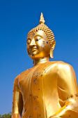 Buddha statue on blue sky — Stock Photo