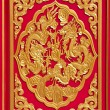 Golden dragon decorated on chinese temple door — Foto de Stock