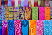 Colorful balinese cloth for sale — Stockfoto
