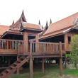 Wooden thai style house — Stock Photo