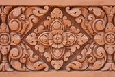 Clay sculpture pattern of thai art — Stock Photo