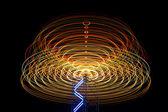 Long exposure of revolve light — Stock Photo