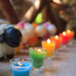 Stock Photo: Colorful celebration candles
