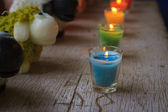 Colorful celebration candles — Stockfoto