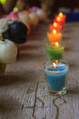 Colorful celebration candles — Stock Photo