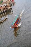 Tourist boat in Bangkok Noi canal, Bangkok, Thailand — Stock Photo